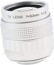 "1/2"" Television TV CCTV Prime Lens for C Mount Cameras 50mm F1.4 in Silver"