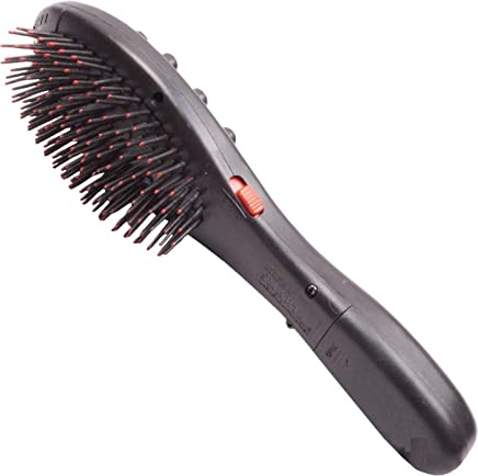 WIDEWINGS Battery Operated Vibration Magnetic Head Massager Hairbrush with Double Speed in Treatment, head massage tool, head massager vibration Massage Brush for healthy and beautiful hair