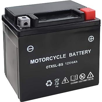 バイク用 バッテリー 液入り 充電済み OTX5L-BS (YTX5L-BS / GTX5L-BS / FTX5L-BS / KTX5L-BS 互換)