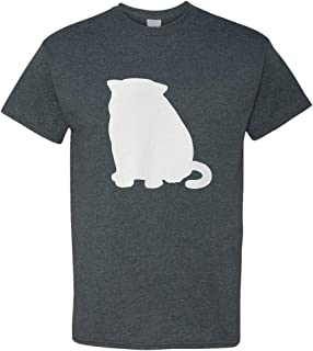 Custom Graphic T Shirts for Men Exotic Shorthair Cat Silhouette B Cotton Top