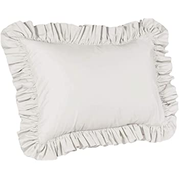 Standard Pillow sham Sage Ruffle Pillow Cover. ShopBedding Ruffle Pillow case
