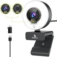 60FPS 1080P Webcam with Ring Light, Fast AutoFocus, Built-in Privacy Cover, 2021 NexiGo N960E USB FHD Web Computer Camera,...