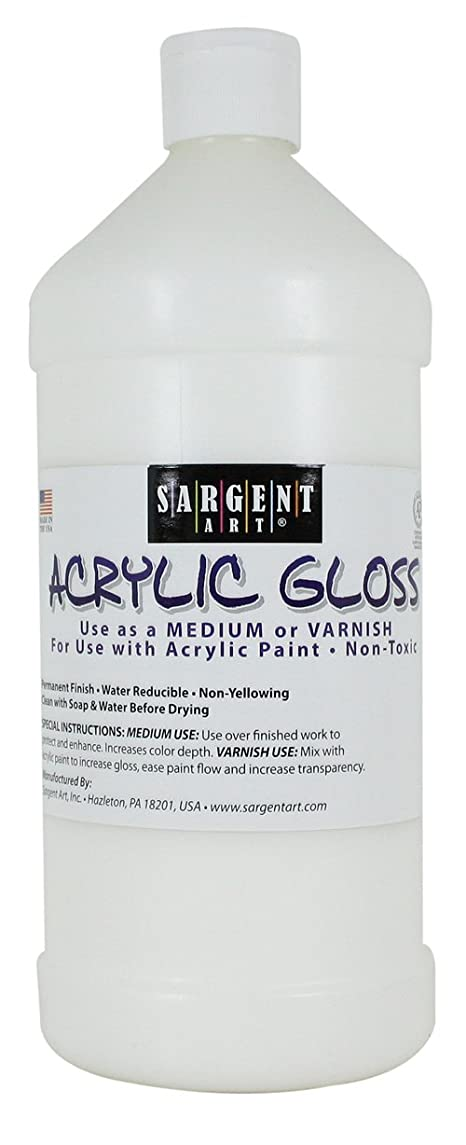 Sargent Art 22-8810 32-Ounce Acrylic Gloss and Varnish