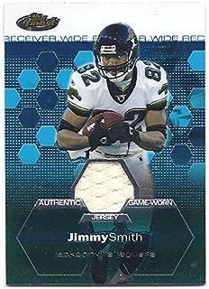 JIMMY SMITH 2003 Finest #116 GAME-WORN JERSEY Card Jacksonville Jaguars Football