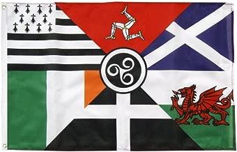 Diseño Celta de la bandera de seis Naciones 152,4 cm x 91,44 cm
