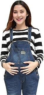 65d244f017f1 Pinji Embarazo Pantalones Ropa de Maternidad - Mujer Peto Babero Monos  Trajes de Abajo Correa Ajustar