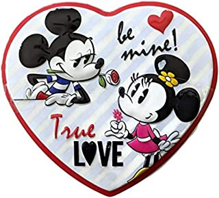 Mickey and Minnie Mouse Valentine's Day Be Mine Heart Tin with Milk Chocolate Candy, 3.6 Ounce