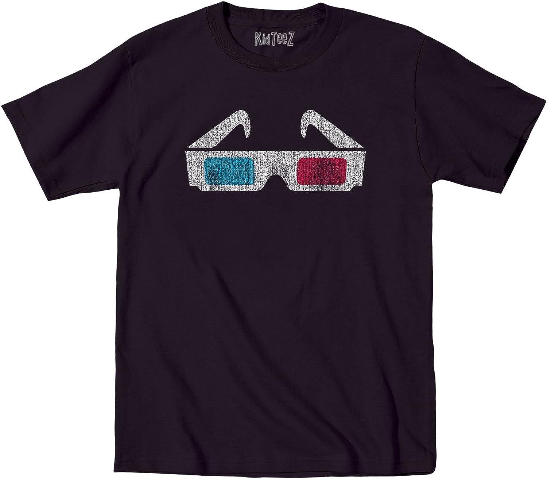 Novelty 3D Glasses Retro Cool Hip Vintage - Toddler Short Sleeve T-Shirt