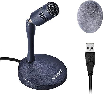 XIAOKOA Microfono USB per PC,Plug And Play Vocale Desktop Microfono,Compatibili Windows/Mac,per Chat Online/Giochi/Podcast/Registrazione/Conferenza/Trasmissione Live - Trova i prezzi più bassi