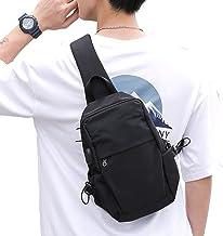 Small Black One Strap Backpack Sling Bag Crossbody Backpack for Men Women, Lightweight Waterproof Sling Backpack Shoulder ...