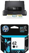 HP OfficeJet 200 Mobile Printer, (CZ993A) and HP 62 Black Original Ink Cartridge (C2P04AN) Bundle