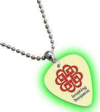Breaking Benjamin brilla en la oscuridad Premium collar de púa de guitarra/cadena