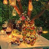 4-Etagen Tortenständer, Cupcake Ständer mit Led Lichterkette (Gelbes) Muffin Ständer Dessert Display Halter Klarer Acryl Donut Turm Gebäckständer für Geburtstag, Hochzeit, Party, Bäckerei Deko, Büfett - 3