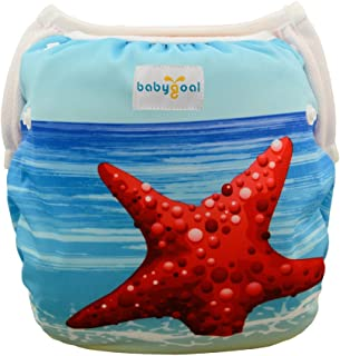 babygoal Baby Reusable Swim Diaper, Washable and Adjustable for Babies 0-2 Years, Baby Shower Gift & Swimming Lessons