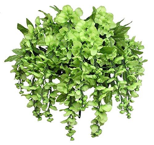 Künstliche Glyzinie, Lange hängende Blume, 15 Stiele für Zuhause, Hochzeit, Restaurant und Büro, Dekoration, Arrangement, Kiwi