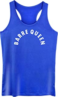 GROWYI Funny Workout Tank Tops for Women with Saying Barre Queen Ballet Fitness Racerback Gym Sleeveless Shirts