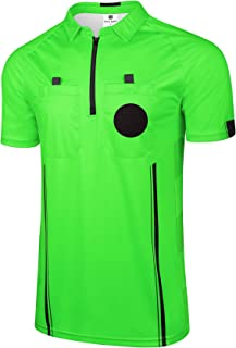 FitsT4 New Pro Soccer Referee Jersey Short Sleeve Ref Shirts