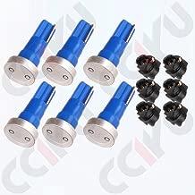 cciyu 6x High Power T5 LED Car Wedge Dashboard Instrument Panel Cluster Dash LED Bulbs Light w/Twist Sockets Blue