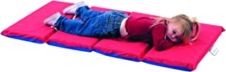 Angeles 2-Inch Infection Control 4 Section Folding Mat - Red/Blue