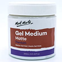 Mont Marte Premium Gel Medium Matte 8.5oz (250ml), Suitable for Acrylic Paints
