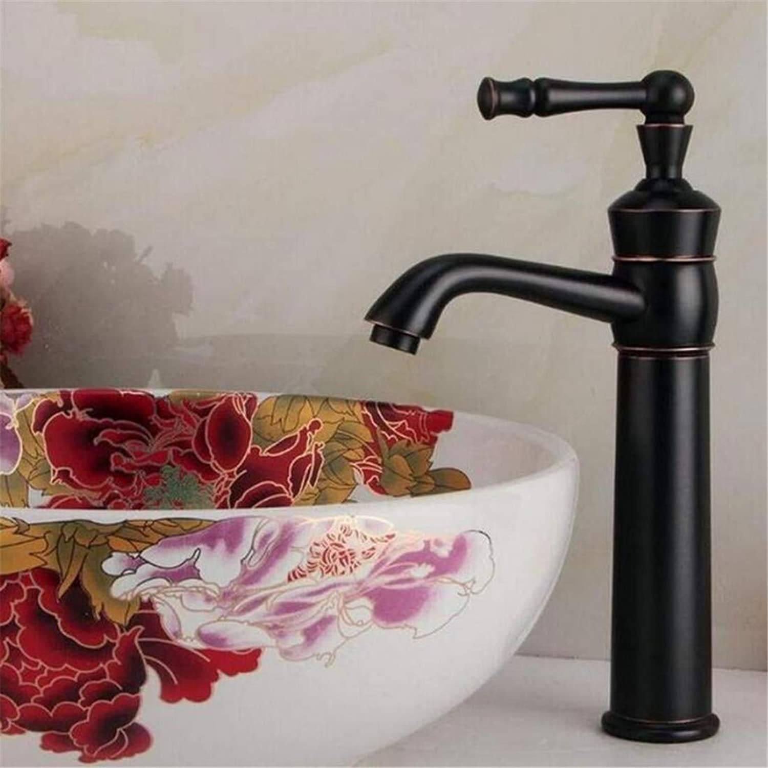 Retro Hot and Cold Faucet Luxury Mixer Platingfaucets Basin Mixer Oil Rubbed Bronze Bathroom Basin Faucet Hot and Cold Water Mixer Tap