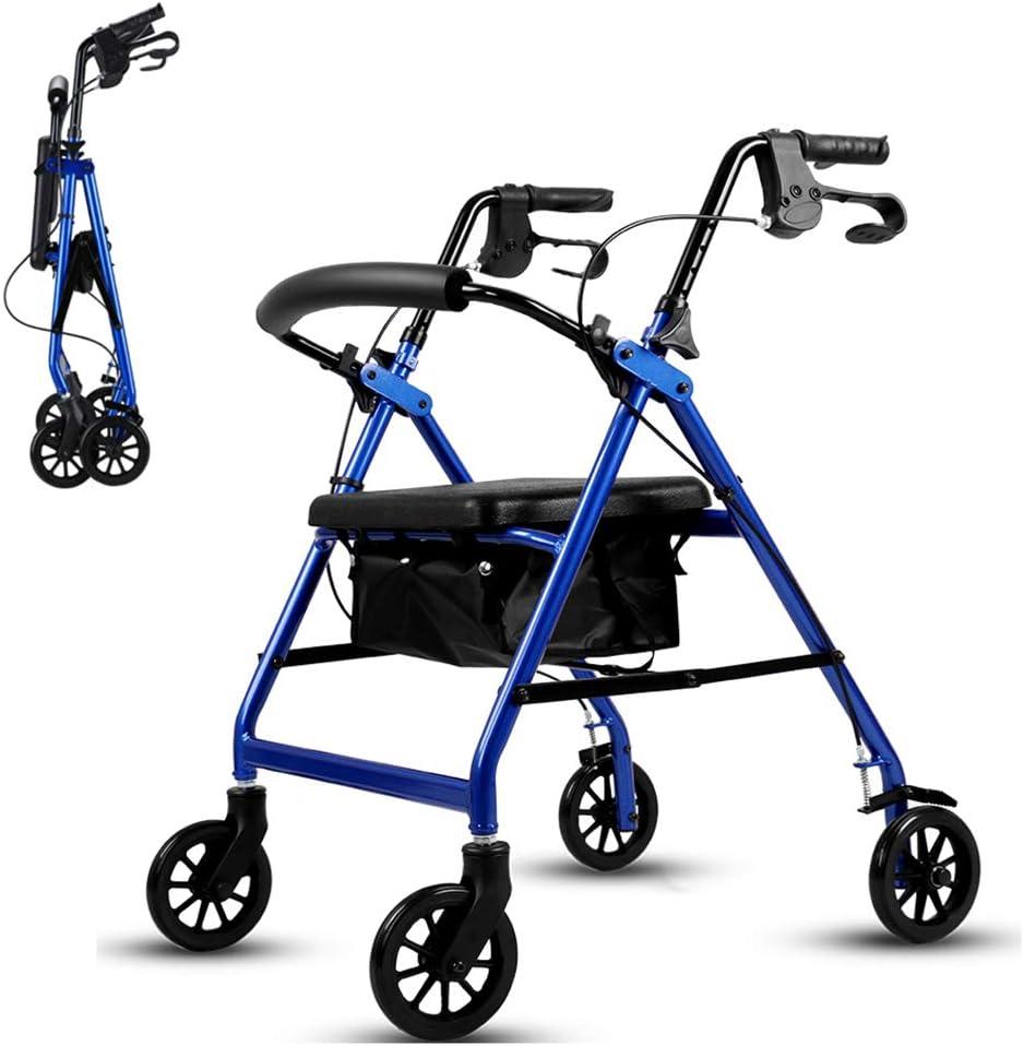 Spasm price Folding Very popular! Walker Four-Wheel Lightweight Alloy Aluminum Ro