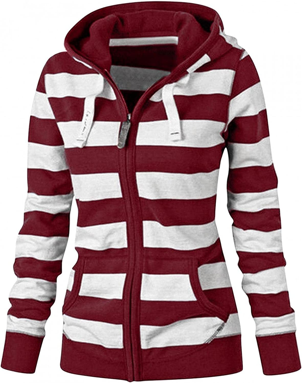 Hoodies for Women Fashion Zip Up Hoodies Sweatshirts Long Sleeve Solid Hooded Zipper Sweatshirt Pullover Shirt Tops