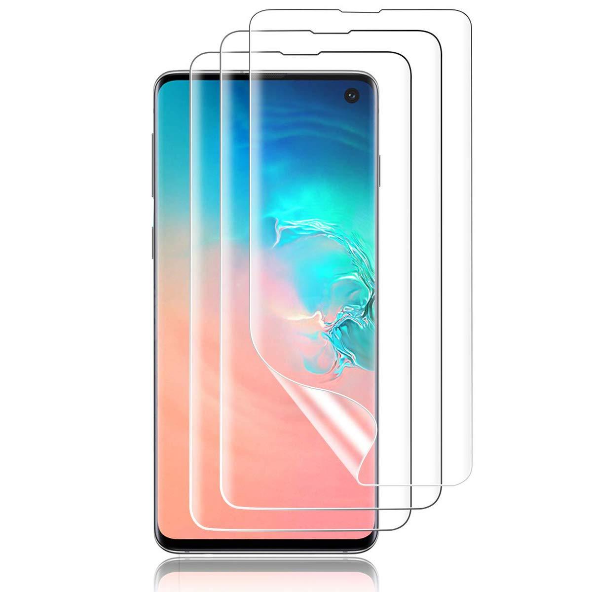 Flysee Protector de Pantalla para Samsung Galaxy S10, [3 Piezas] TPU Film con Aplicación Húmeda, Alta Definición Sensibilidad, Cobertura [Case Friendly] Protector para Samsung Galaxy S10: Amazon.es: Electrónica