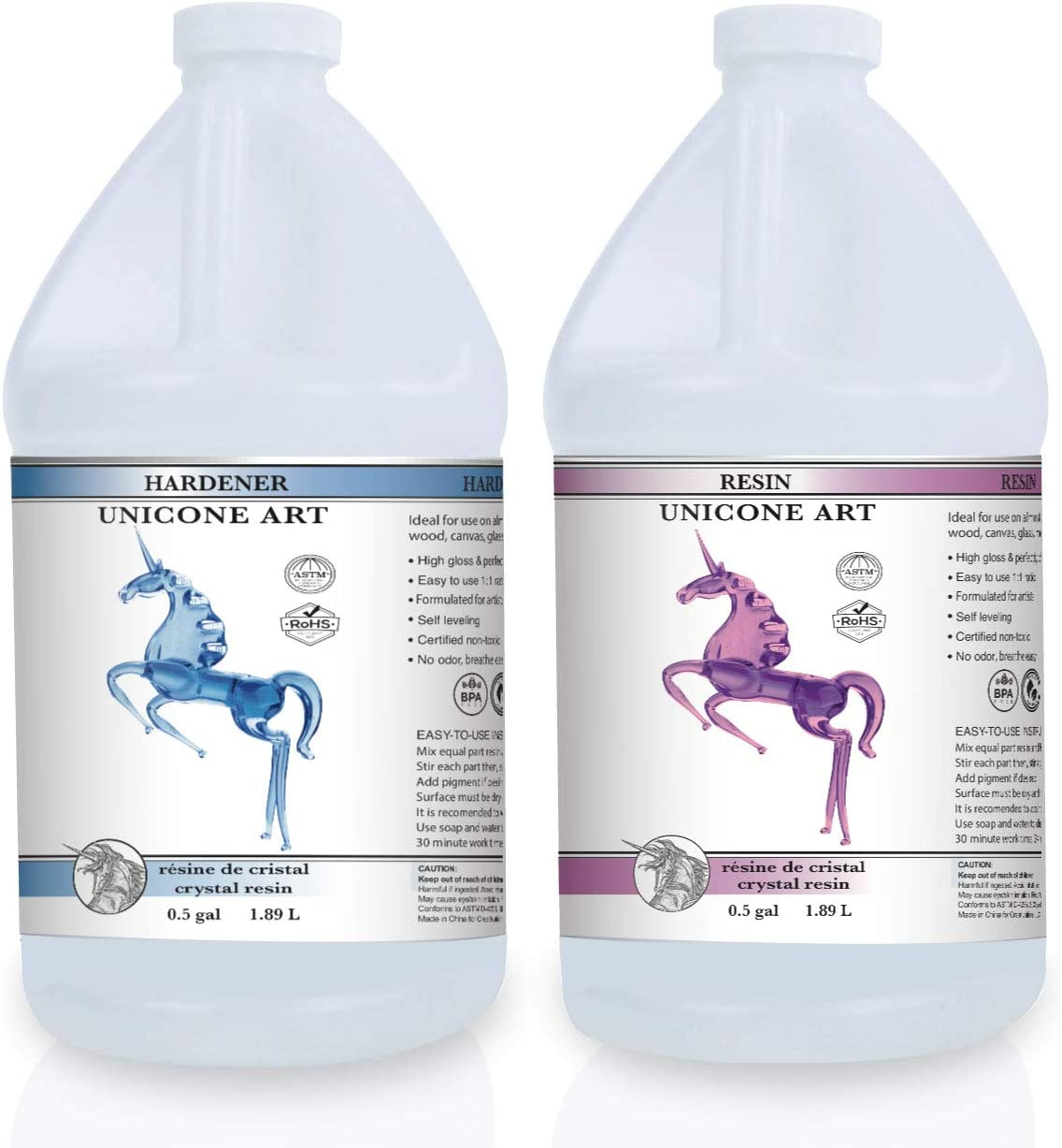 Unicone Art Epoxy Resin Kit for Art and Jewelry Making, Clear Casting Liquid (1 Gallon Set)