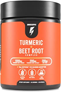 Organic Turmeric and Beet Root Complex - Bioperine (Black Pepper Extract for Maximum Absorption), Reduce Inflammation, Imp...