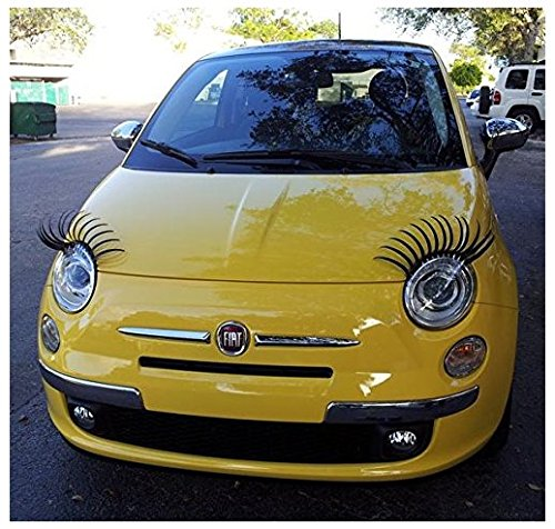 Not Branded Pestañas decorativas para faros de coche (compatibilidad con todos los modelos)