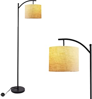 Twinkle Star Bedroom Arc Floor Lamp, Living Room Office Standing Reading Light with Hanging Shade, Foot Pedal Push Switch and Tall Pole for Mid Century Modern Farmhouse, with Energy Saving LED Bulb