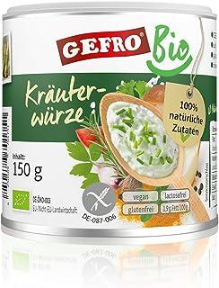 GEFRO BIO Kräuterwürze Kräutersalz zum Würzen & Verfeinern von Rohkost, Fleisch 150g