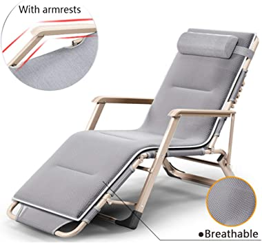 Patio Recliner (Mesh),LoungeChair,570lbs Weight Capacity,Sunbathing Chaise,Zero Gravity Reclining Chair with Adjustable Back