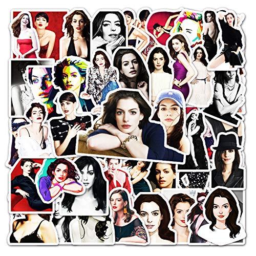 ZNMSB 50 Pegatinas de Graffiti de la Actriz Anne Hathaway, Pegatinas para decoración de Scooter de Coche y Equipaje de Tableta
