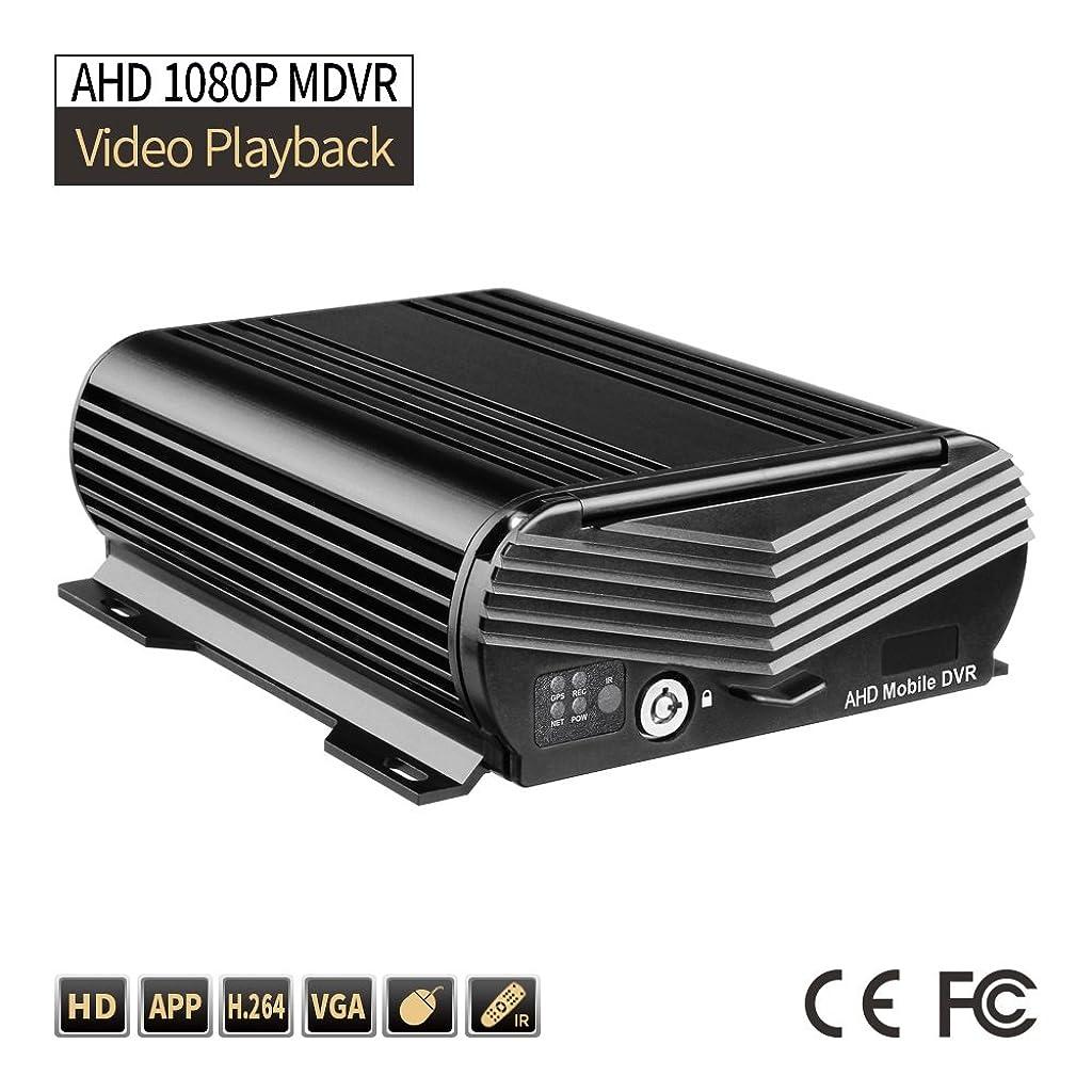 貢献技術者ぺディカブXIADIAN 4CH 1080P AHDハードディスクモバイルカーDVR、2TBループビデオGセンサーI / Oアラーム(車両セキュリティ監視、8-36V)