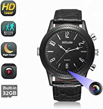 HD 1080P Spy Camera Black Watch Built-in 32GB Memory Card DVR Multi-Function Infrared Night Vision Home Outdoor Camera with Waterproof Function