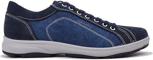 IGI&Co 11139 Blau Blau Blau Scarpa herren Turnschuhe Pelle e Tessuto Made in   70% Rabatt