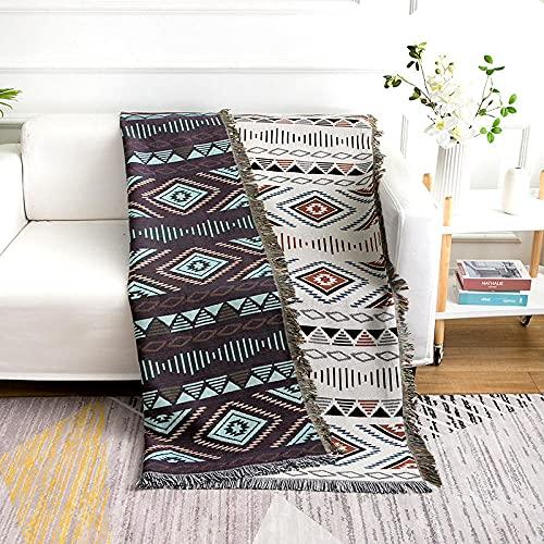 haoyunlai Manta de sofá para sofá, manta de sofá, toalla de sofá de punto gruesa para sillón-blanco_180 cm x 300 cm
