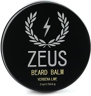 Zeus Conditioning Beard Balm for Men - 2 Oz - Natural Softening Conditioner for Facial Hair (Verbena Lime)