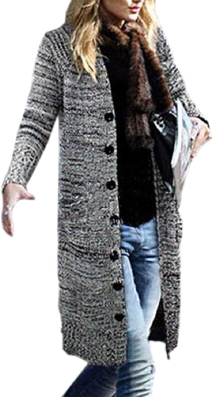 ZXFHZSCA Women Casual Plus Size Button Down Thicken Knit Cardigan Coats