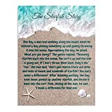 kineticards Story Star Fish Poem Starfish Quote Motivational Inspirational | Home Decor Wall Art Print Poster