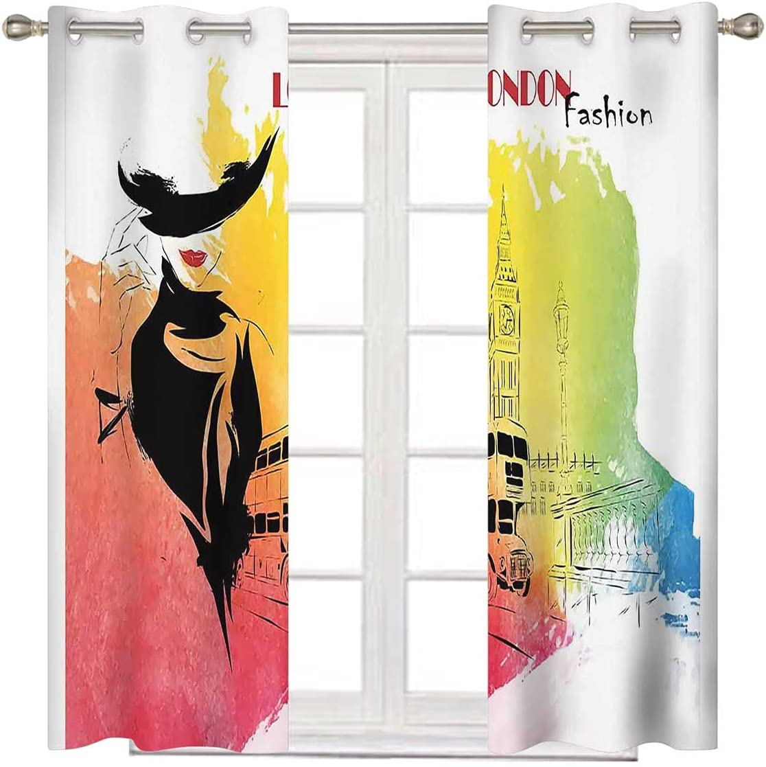 Patio Curtains for Sliding Door Memphis Mall 63 Inches Translated L Long London Fashion