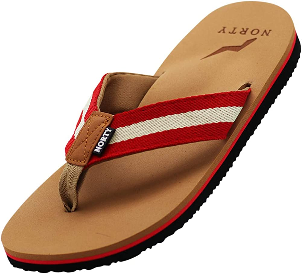 NORTY Mens Casual Flip Flop Thong Sandals For Beach, Pool or Everyday