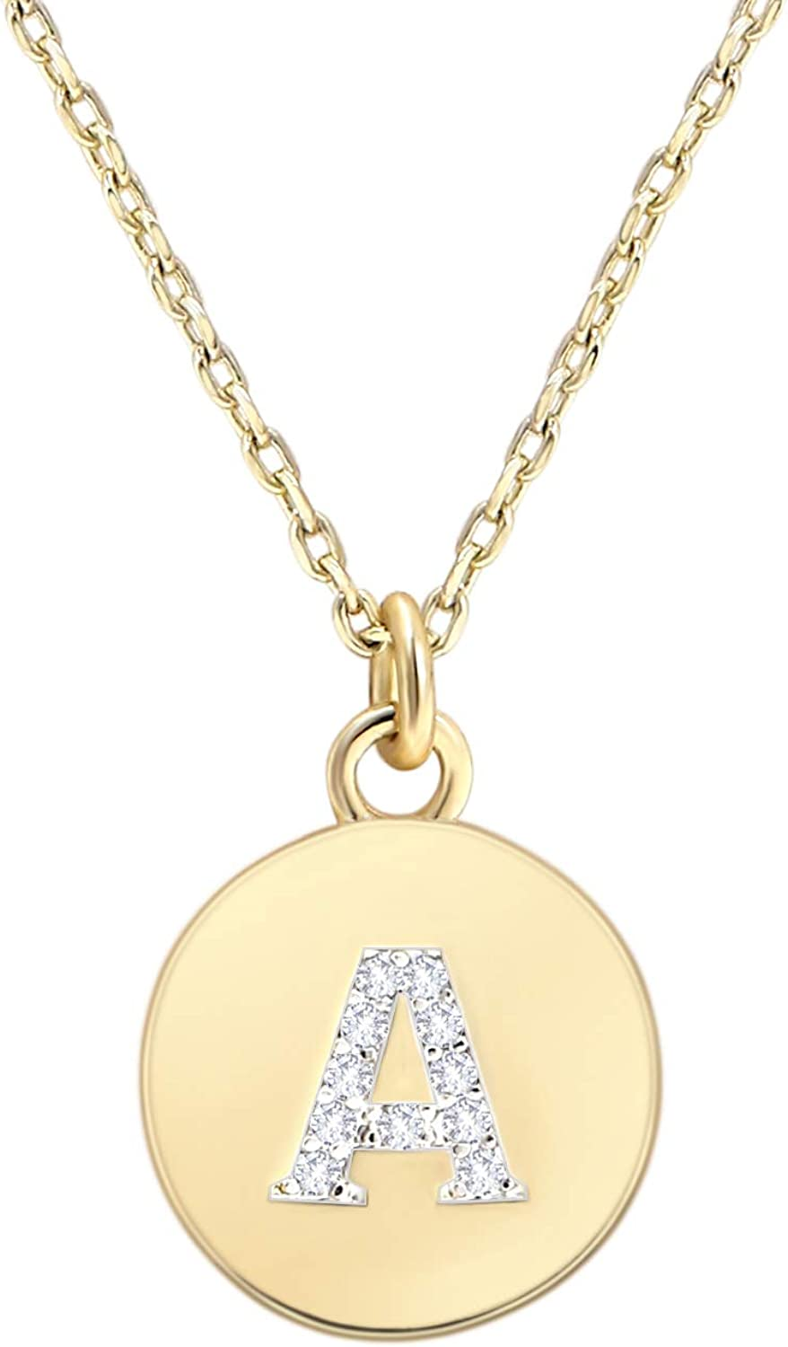Gold Letter Necklace for Initial Ranking TOP19 Mesa Mall Small Penda Girls