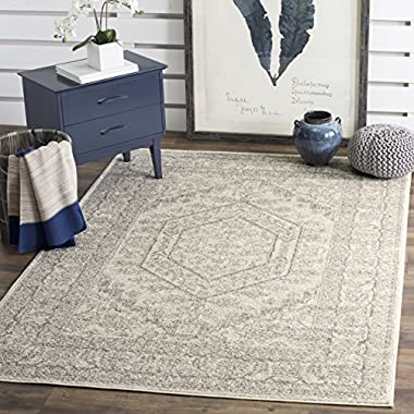 Safavieh Adirondack Collection ADR108B Ivory and Silver Oriental Vintage Medallion Area Rug (5'1  x 7'6 )