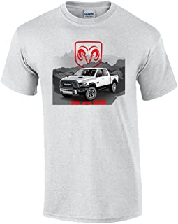 Dodge Ram Trucks Logo Mountain Graphic Short Sleeve T-Shirt
