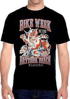 Mens Motorcycle Daytona Beach Bike Week 2018 Tee Shirt