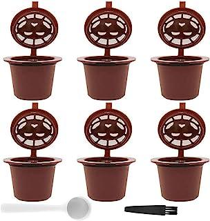 SUNSK Réutilisables Filtres Capsules De Café Expresso avec Cuillère pour Dolce Gusto Reusable Coffee Capsule Cup avec Cuil...