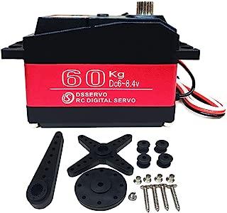 ANNIMOS 60KG Servo digital 8.4V Engranaje de acero inoxidable de alto voltaje Gran par de alta velocidad Impermeable Baja Servos - 270 grados
